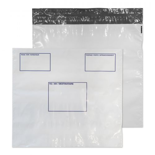 Blake Poly Mailer With Address Panel 430x460 Peel & Seal PK100