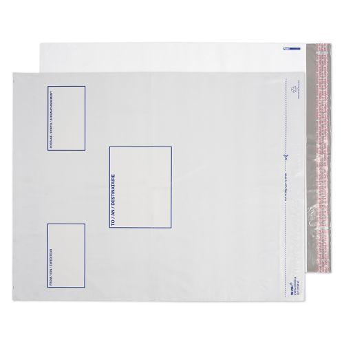 Blake Purely Packaging White Peel & Seal Polythene Pocket 525x450mm 70Mu Pack 500 Code PE94/W/100