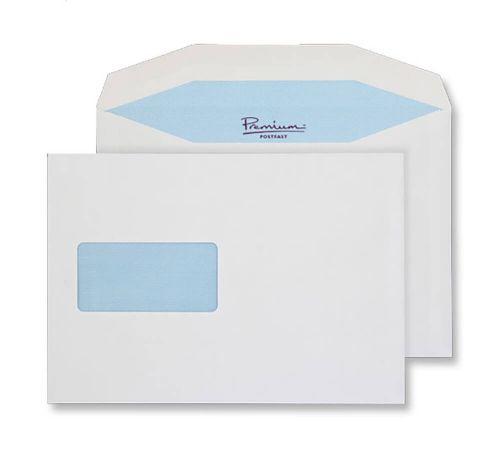 Blake Premium Postfast White Window Gummed Mailer 162x235mm 90gsm Pack 50 Code PF74865