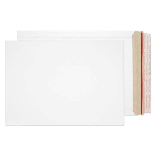 Blake Purely Packaging White Board Hot Melt Peel & Seal All Board Pocket 352x250mm 350gsm Pack 100 Code PPA15-RS