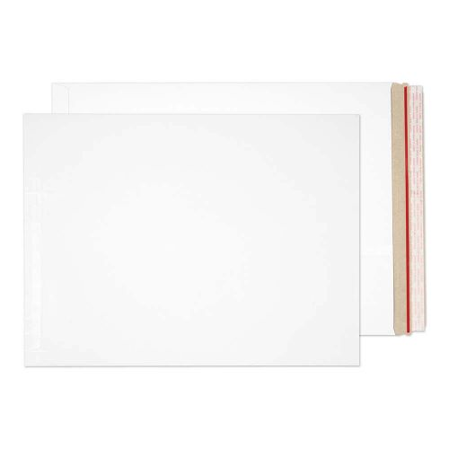 Blake Purely Packaging White Board Hot Melt Peel & Seal All Board Pocket 508x381mm 350gsm Pack 100 Code PPA18-RS
