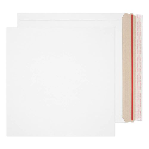 Blake Purely Packaging White Board Hot Melt Peel & Seal All Board Pocket 300x300mm 350gsm Pack 100 Code PPA22-RS