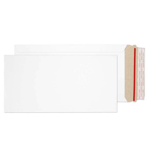 Blake Purely Packaging White Board Hot Melt Peel & Seal All Board Pocket 305x152mm 350gsm Pack 100 Code PPA29-RS