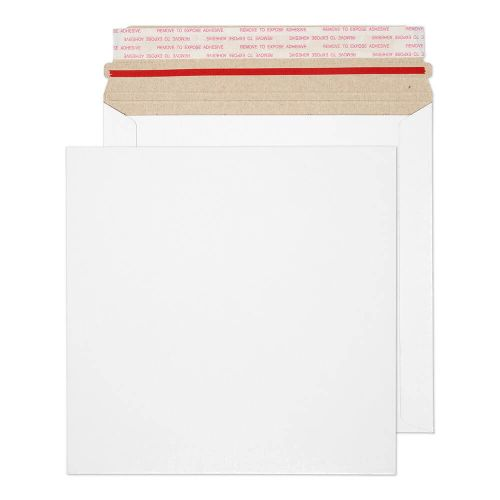Blake Purely Packaging White Board Hot Melt Peel & Seal All Board Pocket 195x195mm 350gsm Pack 200 Code PPA3-RS