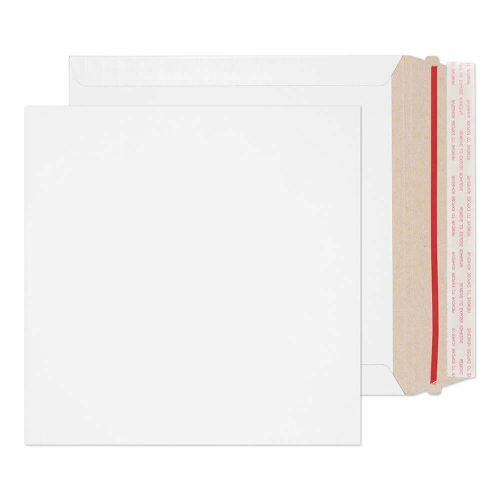 Blake Purely Packaging White Board Hot Melt Peel & Seal All Board Pocket 220x220mm 350gsm Pack 200 Code PPA4-RS