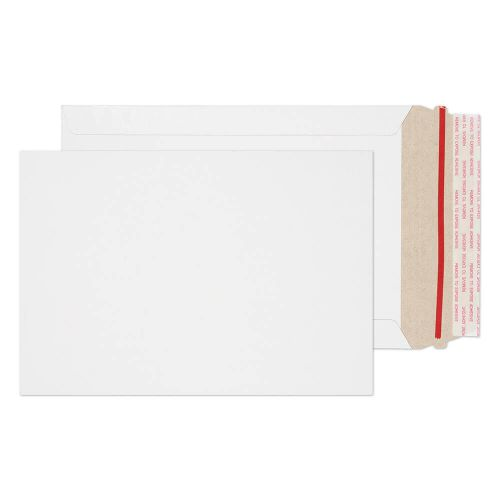 Blake Purely Packaging White Board Hot Melt Peel & Seal All Board Pocket 239x164mm 350gsm Pack 200 Code PPA6-RS