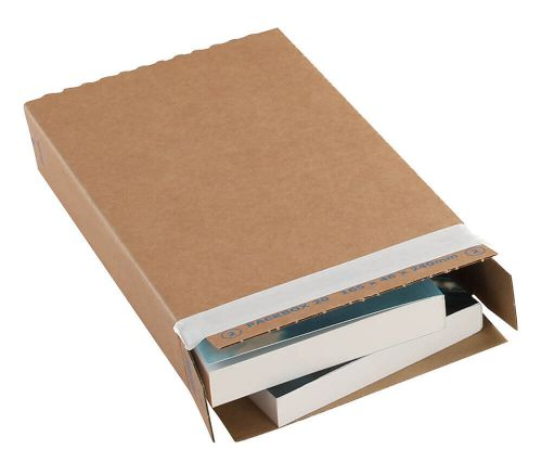 Recycled Slimline Easy Assemble Postal Boxes Peel and Seal 346x243x46mm [Pack 25]