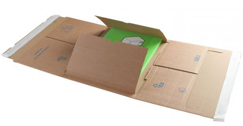 Blake Purely Packaging Kraft Peel & Seal Postal Wrap 310X250X99mm 120 Pack 25 Code Ppw60 3P