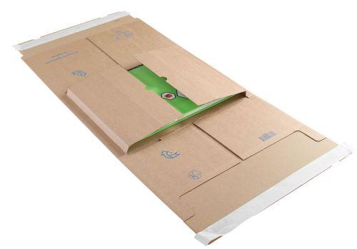 Blake Purely Packaging Kraft Peel & Seal Postal Wr ap 350X320X99mm 120 Pack 25 Code Ppw65 3P