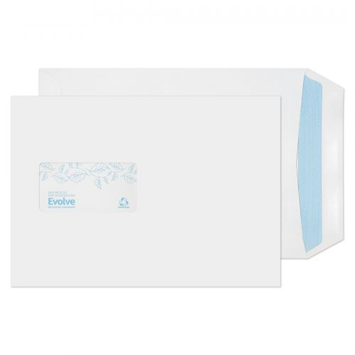 Evolve Recycled C5 Envelopes Window Self Seal 100gsm White (Pack of 500) RD7084