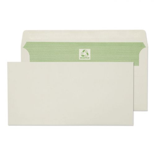 Blake Purely Environmental Wallet Envelope DL Self Seal Plain 90gsm Natural White (Pack 500)