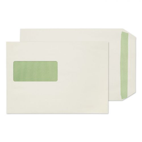 Purely Environmental Pocket SS Wndw Natural White 90gsm C5 Ref RE3831 Pk500 *10 Day Leadtime*