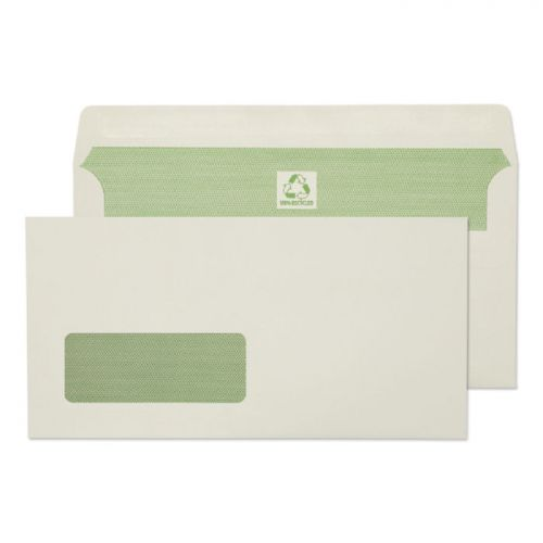 Purely Environmental Wallet SS Wndw Natural White 90gsm DL Ref RE4360 Pk500 *10 Day Leadtime*