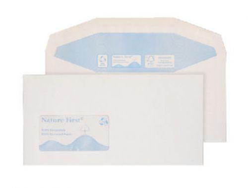 Blake Purely Environmental White Window Gummed Mailer 114X229mm 90Gm2 Pack 1000 Code Rn0015 3P