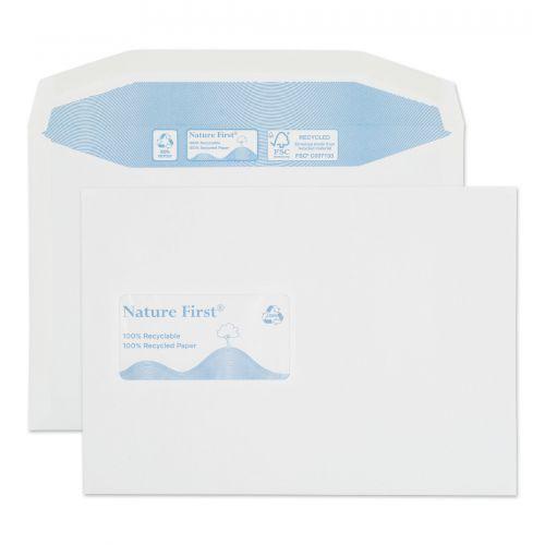 Purely Environmental Mailer Gummed Window White 90gsm C5 162x229 Ref RN025 Pk 500 *10 Day Leadtime*