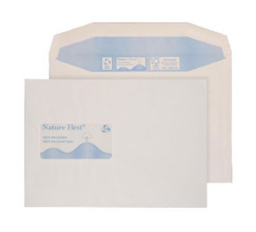 Blake Purely Environmental White Window Gummed Mailer 162X238mm 90Gm2 Pack 500 Code Rn030 3P