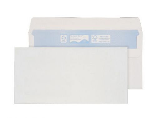 Purely Environmental Wallet Self Seal White 90gsm DL 110x220 Ref RN17882 Pk 1000 *10 Day Leadtime*