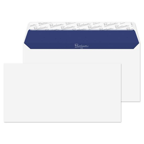 Blake Premium Pure Wallet Envelope DL Peel and Seal Plain 120gsm Super White Wove (Pack 50)