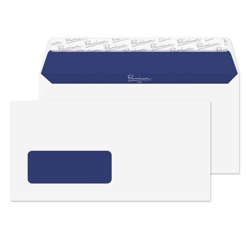 Blake Premium Pure Super White Wove Window Peel & Seal Wallet 110X220mm 120G Pk50 Code Rp81265 3P