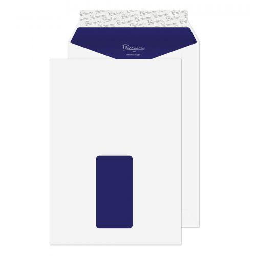 Blake Premium Pure Super White Wove Window Peel & Seal Pocket 229X162mm 120G Pk500 Code Rp83084 3P