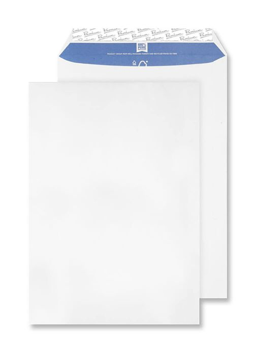 Blake Premium Pure Envelope C4 Recycled Pocket Wove P&S 120gsm Super White Ref RP84891 [Pack 250]