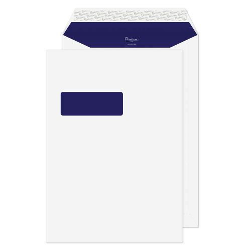 Blake Premium Pure Pocket Envelope C4 Peel and Seal Window 120gsm Super White Wove (Pack 250)
