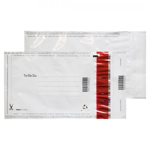 Blake Purely Packaging White/White/Black 3 P&S Polythene Pocket 260X165 70Mu Pk1000 Code Se720 3P
