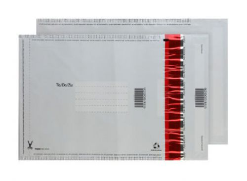 Blake Purely Packaging White Peel & Seal Polythene Pocket 260X165mm 70Mu Pack 100 Code Se720/100 3P