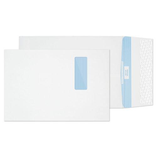 Blake Premium Secure White Window Peel & Seal Tear Resistant Gusset 324x229mm 125gsm Pack 100 Code TR9901