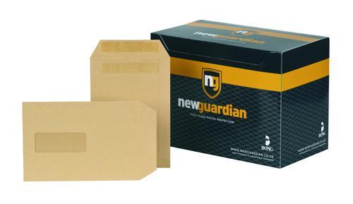 New Guardian Pocket Envelope C5 Self Seal Window 130gsm Manilla (Pack 250)