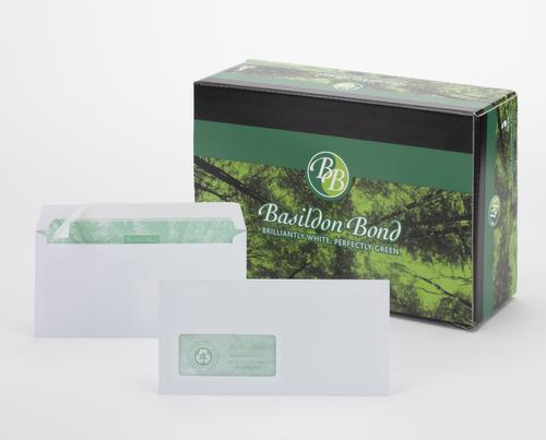 Basildon Bond Wallet Envelope Peel & Seal Window 120gsm White DL (Pack 500)
