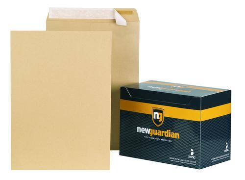 New Guardian Pocket Envelope C3 Peel and Seal Plain 130gsm Manilla (Pack 125)