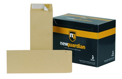 New Guardian Pocket Envelope 305x127mm Peel and Seal Plain 130gsm Manilla (Pack 250)
