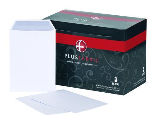 Plus Fabric Pocket Envelope C5 Self Seal Plain 120gsm White (Pack 500)