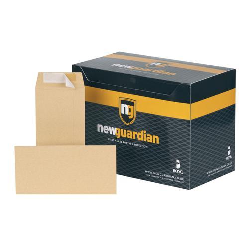 New Guardian Pocket Envelope DL Peel and Seal Plain 130gsm Manilla (Pack 500)