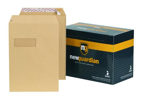 New Guardian Pocket Envelope C4 Peel and Seal Power-Tac Easy Open Window 130gsm Manilla (Pack 250)