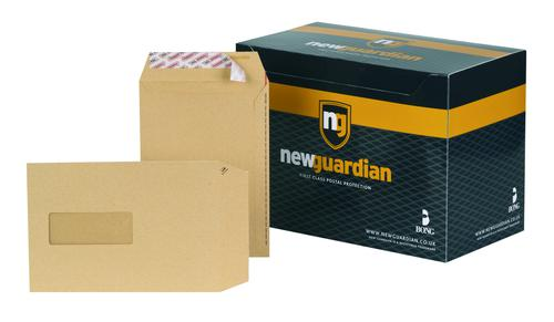 New Guardian Pocket Envelope C5 Peel and Seal Window Power-Tac Easy Open 130gsm Manilla (Pack 250)