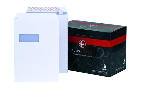 Plus Fabric Pocket Peel & Seal Window 120gsm C4 White PK250