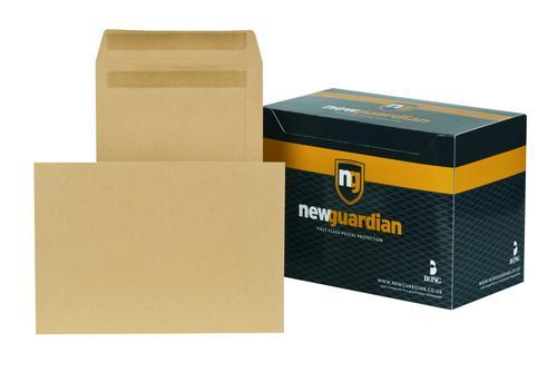 New Guardian Pocket Envelope C4 Self Seal Plain 130gsm Manilla (Pack 250)