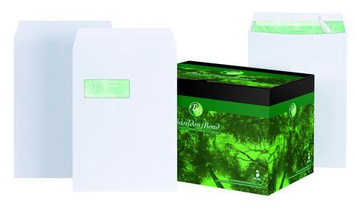 Basildon Bond Pocket Envelope C4 Peel and Seal Plain 120gsm White (Pack 250)