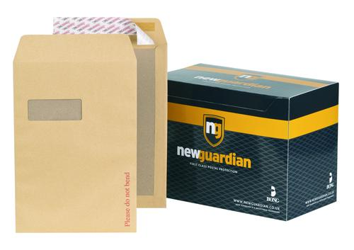 New Guardian Board Backed Envelope C4 Peel and Seal Window Power-Tac 130gsm Manilla (Pack 125)