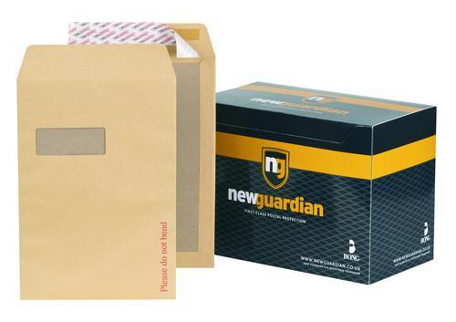 New Guardian Hvywght Board Backed Window Peel & Seal Manilla C4 PK125