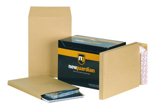 New Guardian Gusset Envelope 350x248mm Power-Tac Peel and Seal Plain 25mm Gusset 130gsm Manilla (Pack 100)