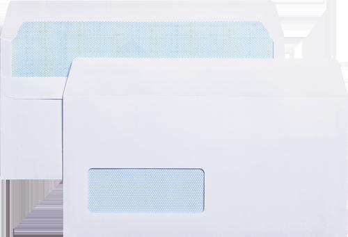 Blue Label Wallet Envelope DL Self Seal Window 90gsm White (Pack 1000)