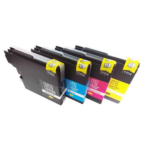 Compatible Brother LC1100 Multipack 4 LC1100BK/C/M/Y Inkjets