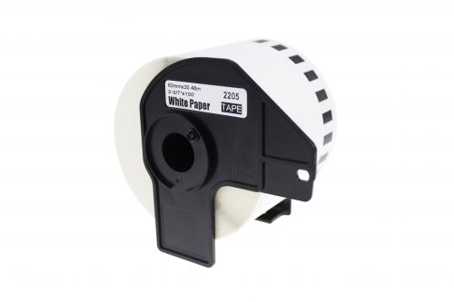 Alpa-Cartridge Comp Brother DK-22205 Continuous Length White Tape (Paper) Roll