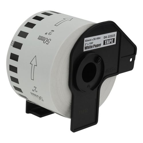 Alpa-Cartridge Comp Brother DK-22223 Continuous Length White Tape (Paper) Roll