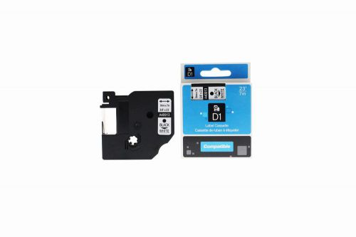 Compatible Dymo LM100 Black on White 40913 S0720680 Label Cassette