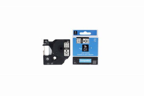 Compatible Dymo YT-40910 Black on Clear S0720670 Label Cassette