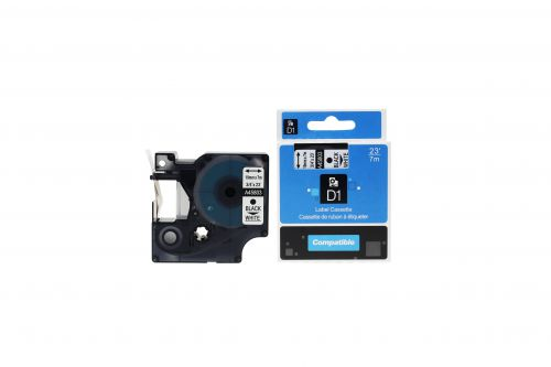 Compatible Dymo 45803 Black on White S0720830 Labelling Tape Cassette